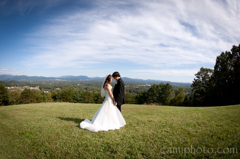 Elope in the Sky Overlooking Downtown Asheville