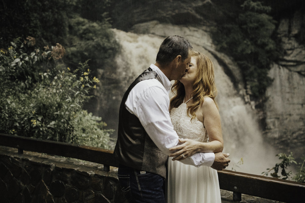 A Rainy Day Waterfall Elopement