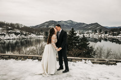 A Snowy Day Lake Elopement